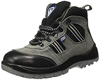 Allen Cooper AC 1157 Hi-Ankle Leather Safety Shoe, Size 5 UK/India