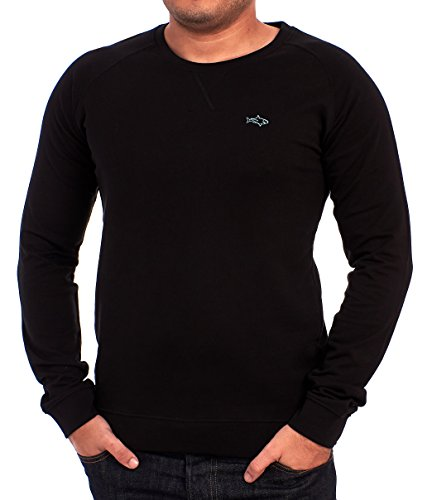 John Shark Herren Sweatshirt Schwarz
