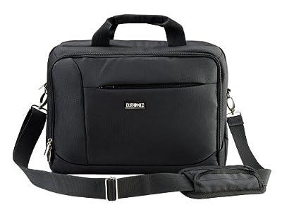 Duronic LB10 Laptop Notebook Case Black Messenger Bag with Shoulder Strap by Duronic