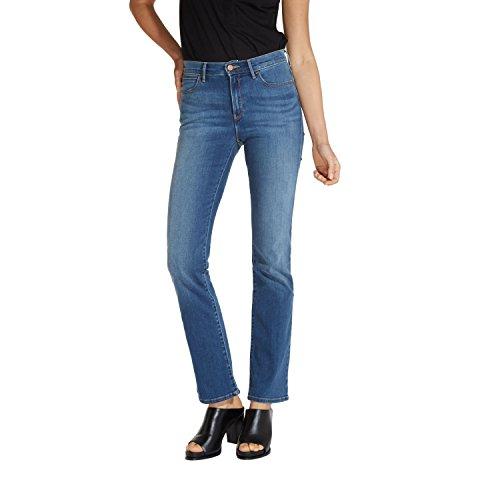 Wrangler Damen Jeans, Frauenjeans W27UU486L High Rise Bootcut Misty Blue, Größe:W28/L30 High Rise Bootcut Jeans