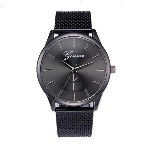 OPALLEY Unisex High-End-Qualitätsuhr Mode-Retro-Design Herrenuhr Trend Quarzuhr Einfacher Leser Einstellbar Gummi-Mesh-Gürtel Komfortabel Einstellbar stilvolle Business Daily Casual Einfache Uhr
