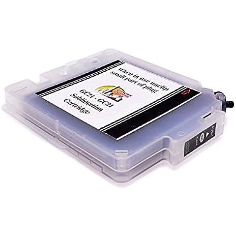 Colore nero-Cartuccia d'inchiostro di sublimazione GC21-Ricoh GX2500 alta capacità, Extra: