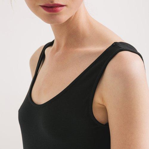 Promod Longue robe débardeur Femme Noir