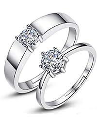 Trifycore las mujeres para hombre de plata anillo de compromiso anillo de compromiso anillo de Zirconia