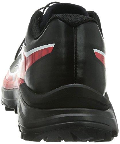 Salomon Unisex-Erwachsene S-Lab Wings Sg Traillaufschuhe Schwarz (Black/Racing Red/White)
