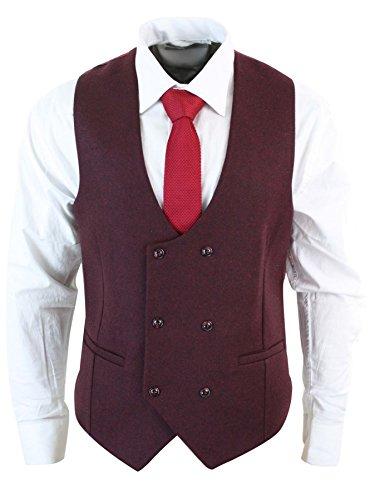 Gilet homme veston croisé feutre tweed à chevrons vintage rétro coupe  cintrée ba0ad8c7f6d