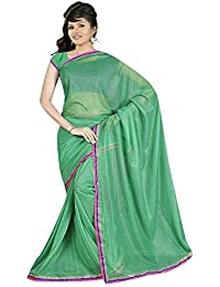 Visach Green Lycra Saree