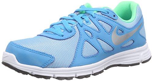 Nike Mädchen Revolution 2 GS Laufschuhe, Blau (Bl Lagoon/Mtllc Slvr-White-Blk), 38.5 EU - Mädchen 2 Revolution Nike
