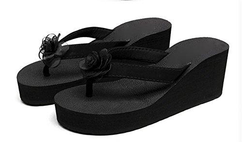pengweiPantofole pi¨´ sandali sandali sulla spiaggia con flip flops fiori di moda signore fresche pantofole 3