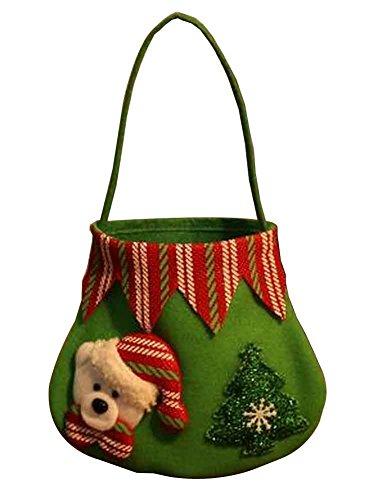 Set di 3 sacchetti di regalo di natale con decorazioni natalizie candy bag [c]