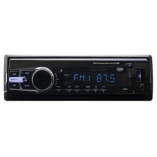 Radio MP3-Player Auto PNI Clementine Bus LKW 8524BT 4x45w 12V / 24V 1 DIN cu SD, USB, AUX, RCA SI Bluetooth 24 Volt
