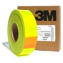3M Nastro Pellicola Adesivo Fluorescente Alta visibilità Giallo 25/50/200mm (25mm, Lunghezza – 1 Metro)