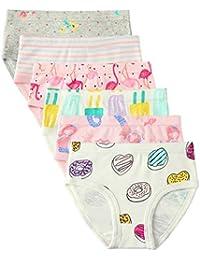 Confezione da 6 Piccola Bambine e Ragazze Biancheria Intima in Cotone da 1 a 7 Anni, Mutandine delle Neonate Undies della del Bambino