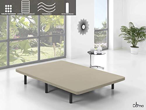 Dormio Base Tapizada con 5 barras transversales + 6 patas de metal,...
