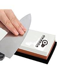 Okeeca Grain Pierre ¨¤ aiguiser Outil de m¨¦nage avec une base de gel de silice antid¨¦rapant pour Aiguisage et polissage couteaux 3000/8000 ¡