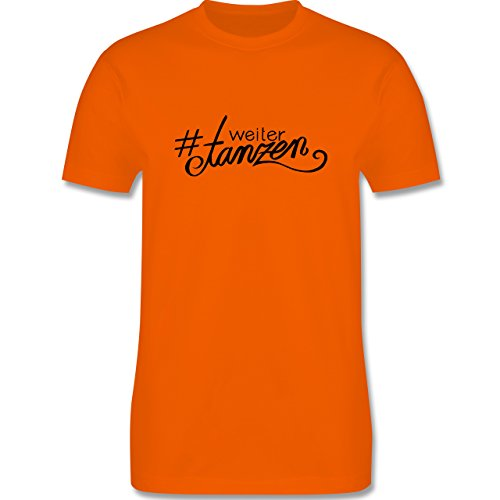 Statement Shirts - #weitertanzen - Herren Premium T-Shirt Orange