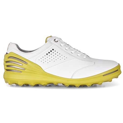 ECCO Uomo 133004 Scarpe da Golf, Uomo, 133004, Bianco (Bianco/Giallo 50864), 43 EU