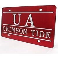 """Preisvergleich für Alabama eingelegten Acryl Nummernschild–""""UA Crimson Tide"""" Rot von Stockdale"""
