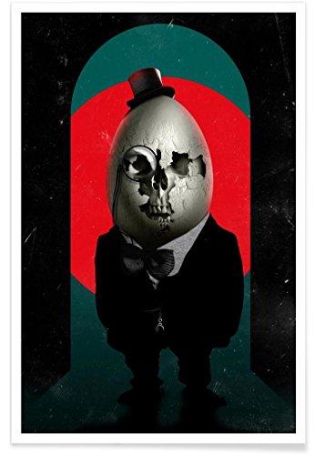 """JUNIQE Premium Poster 20x30cm """"Humpty Dumpty"""" von Ali Gulec - Fantasie- & Mischwesen, Tiere Kunstdruck"""