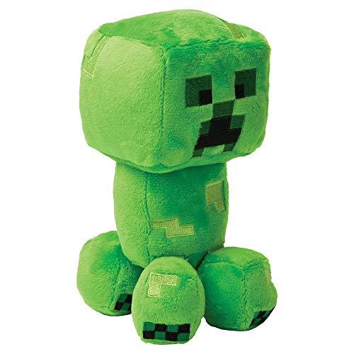 Minecraft- Peluche Explorer Creeper, Color Verde, 7 Pulgadas (Jinx 889343083877)