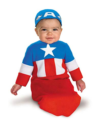 Kostüm Captain America Baby - Horror-Shop Captain America Kostüm für Babys