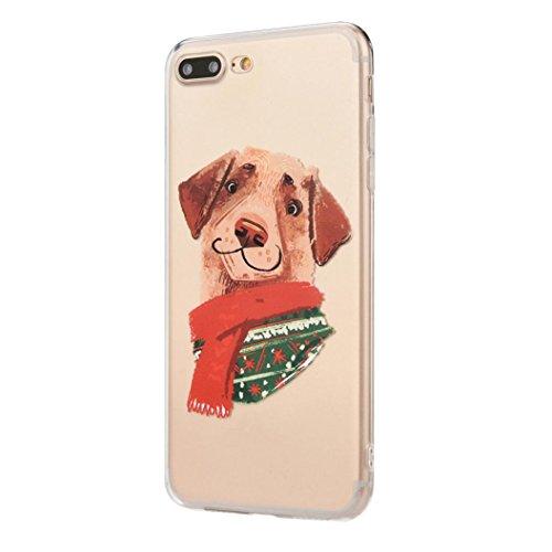 Ouneed® Für iPhone 8 plus 5.5 Zoll Hülle , Christmas Transparent TPU Silikon Schutz Handy Hülle Case Tasche Silikon Crystal Case Durchsichtig Schutzhülle For iPhone 8 plus 5.5 Zoll (C) I
