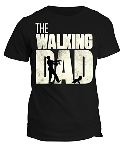Tshirt festa del papà -the walking dad- happy father's day - in cotone by fashwork