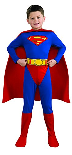 Rubie's Official Superman Kids Fancy Dress Boys Superhero Childrens Child Comic Book Costume