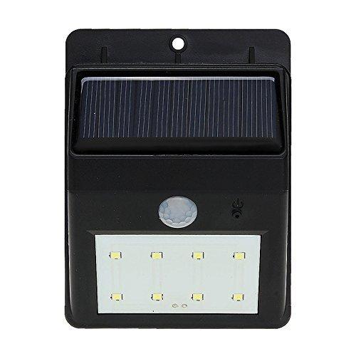 MasterStor a energia solare, con sensore di movimento PIR, 8 LED, ingresso/Flood Garden-Lampada da parete per esterni