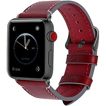 Fullmosa Bracelet Compatible avec Apple Watch 38mm 42mm pour Homme Femme, 8 Couleurs Wax Bracelet