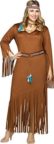 Kostüm Summer Indian Für Erwachsenen - Indian Summer Plus Costume 22-24