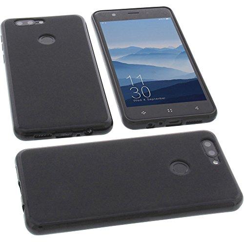 foto-kontor Tasche für Elephone P8 Mini Gummi TPU Schutz Handytasche schwarz