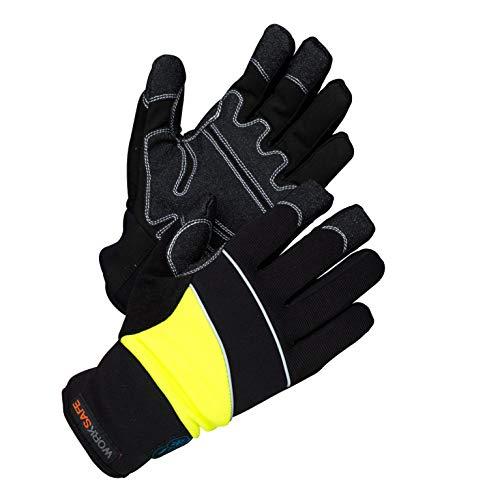Worksafe Arbeitshandschuhe Winter, wasserdicht, warm gefüttert, A80-537W - 1 Paar, Gr.10=XL, gelb/schwarz