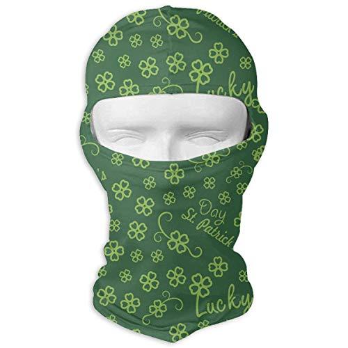 Xukmefat St. Patrick's Day glück vierblättriges Kleeblatt ski Maske Fahrrad Gesichtsmaske Rohr schal Headwear 3D zaubermaske