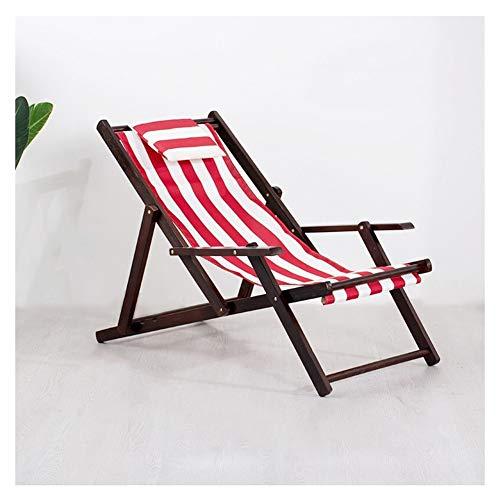 Gartenstuhl Massivholz Klappstuhl Lounge Chair Nap Chair Geeignet for Schlafzimmer Wohnzimmer Büro Outdoor Freizeit (Color : Pink)