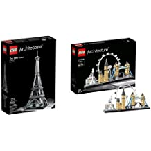Pack Lego - 21019 - Architecture - La Tour Eiffel et LEGO - 21034 - Architecture - Londres