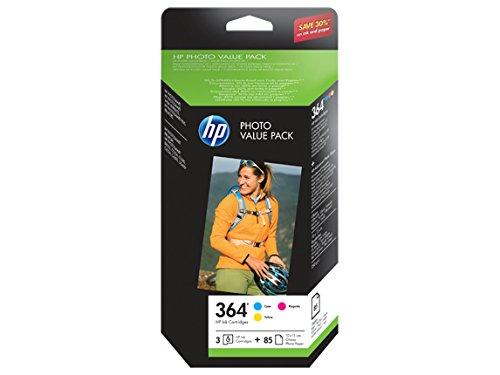 HP 364 Photo Value PackTintenpatronen und 50Fotopapier-Bögen 10x 15cm