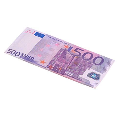Unisex Note di valuta Modello Portafogli Euro Dollaro Pound Stampati in colori reali Realistici con esterno in pelle PU (colore: multicolor e 500 Euro) (misura :)