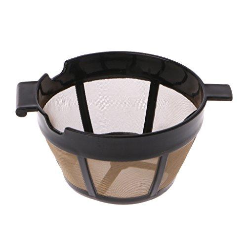 Sunhoyu Kaffeefilter/Filterhalter,Goldtonfilter,Ersatz Wiederverwendbare Kegel Kaffeefilter Waschbar...