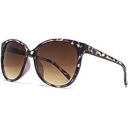 American Freshman Weicher viereckiger Cateye Sonnenbrillen in lila schildpatt AFS012 One Size Brown Gradient