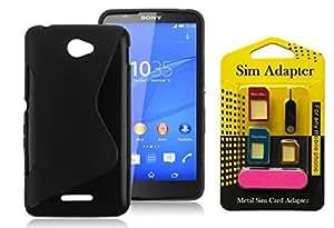 Sony Xperia E4 Dual, Wellmart Back Case Cover Combo Offer For Sony Xperia E4 Dual + Metal Sim Card Adapter (Super Saver)