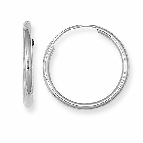 .925 Sterling Silver Hoops Endless Large Jumbo Hoop -
