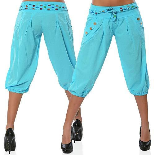 WQIANGHZI Damen Leggings 3/4, Sporthose Fitnesshose Training Laufhose Sport Tights Hohe Taille Yogahose - Twill Jean Leggings