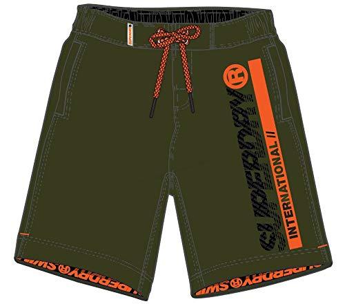 Superdry Boardshort Short, Vert (Marine Olive Q2L), L Homme