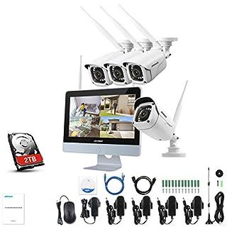 ANNKE Überwachungskamera Set Außen Kabellos mit 4 x 1080P Wlan WiFi Überwachungskamera 12