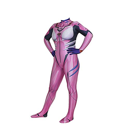 (SEJNGF Superheld Strumpfhosen Halloween Cosplay Kostüm Frau Camouflage,Pink-XXXL)