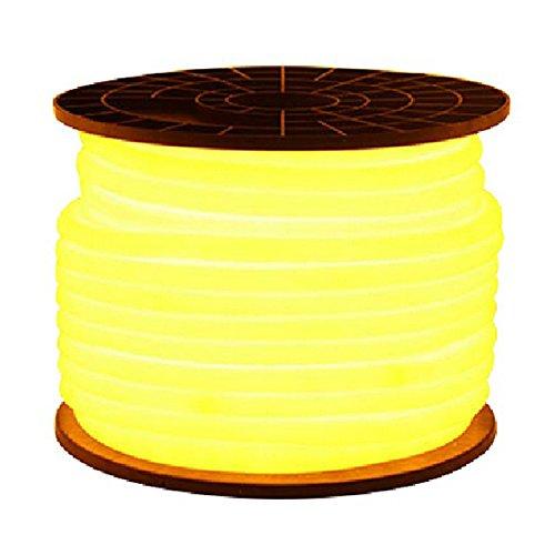 JiuRui LED Lampe 5M 2835SMD 600LED LED Neon Seil Licht 2 Drähte LED Neon Flex Weiß DIP Led Neon Band 220-240V/110-130V 1PCS (Color : Yellow) (Lampe 130v)