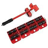 Utensili per il trasporto di sollevatori per mobili pesanti con cursori mobili da 4 pezzi per traslochi facili e sicuri