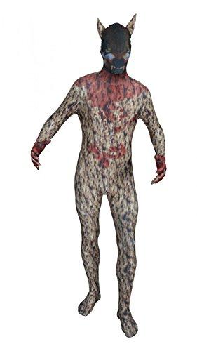 Original FUNSUIT Wolf Ganzkörperanzug Anzug Kostüm Gr. S / M / L / XL / XXL [M]