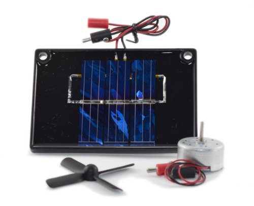 Solarmodul mit Motor und Propeller / Solar Cell with motor & propeller / Panneau solare + moteur + Hélice